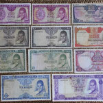 Zambia series Ngwee y Kwachas 1968-1973 anversos