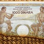 Yugoslavia 1000 dinares 1935 reverso