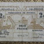 Nueva Caledonia 2 francos 1943 Bono -Tesoro de Noumea (114x70mm) pk.56a anverso