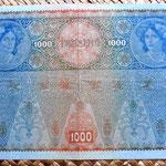 Imperio Austrohúngaro 1000 coronas 1902 reverso