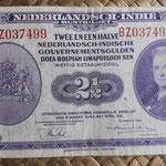 Indias Holandesas 2,50 gulden 1943 anverso