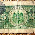 México 25 centavos 1915 Estado de Sonora -Hermosillo reverso