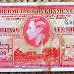 Bermuda 10 shillings 1937 anverso
