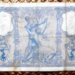 Francia 100 francos Bleu et Rose 1900 reverso