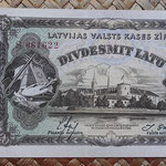 Letonia 20 latus 1936 pk.30b anverso