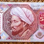 Kazajistan 5000 tenges 2001 (148x74mm) anverso