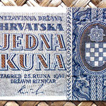 Croacia 1 kuna 1942 (80x43mm) anverso