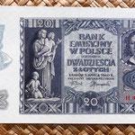 Polonia 20 zlotych 1940 anverso