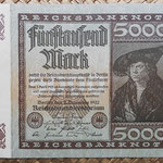 Alemania 5000 marcos 1922 Reichsbank (128x87mm) pk.81a anverso