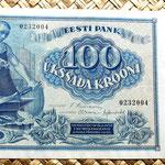 Estonia 100 coronas 1935 anverso