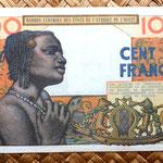 Senegal 100 francos 1961 reverso
