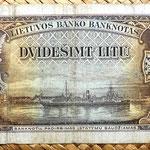 Lituania 20 litu 1930 reverso