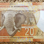 Sudáfrica 20 rand 2012 reverso