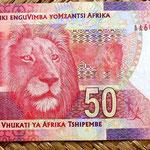 Sudáfrica 50 rand 2012 reverso