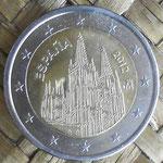 España 2 euros conmemorativos 2012 cara