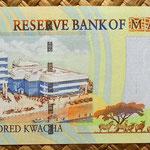 Malawi 500 kwacha 2001 reverso