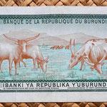 Burundi 1000 amafranga 1986 reverso