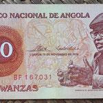 Angola 20 kwanzas 1976 (140x65mm) pk.109a anverso
