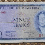 Luxemburgo 20 francos 1955 (135x72mm) pk.49a anverso