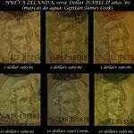 Nueva Zelanda dolares Isabel II años '80 s.XX marcas de agua