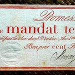 Francia Promesa de Mandato Territorial 100 francos 1796 (WPM pk. A84b) 260x110mm anverso