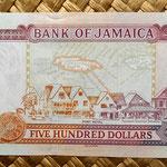 Jamaica 500 dollar 2008 reverso
