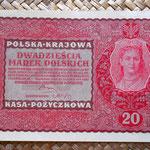 Polonia 20 marek 1919 (150x98mm) pk.26 anverso