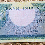 Indonesia 5 rupias 1957 anverso
