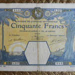 French West Africa -Dakar 50 francos 1929 anverso