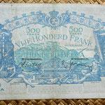 Bélgica 500 francos-100 belgas 1938 reverso