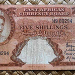 British East Africa 5 shilling 1958-60 anverso (132x70mm) pk.37