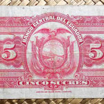 Ecuador 5 sucres 1949 reverso