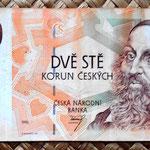 Chequia 200 korun 1993 anverso