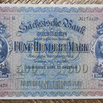 Alemania 500 marcos 1922 Sachsische Bank Dresden (175x116mm) pk.S954a anverso
