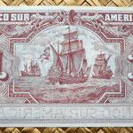 Ecuador 1 sucre 1920 Banco Sur Americano (148x64mm) pk.S251r reverso