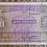 Malta 1 pound 1940 (146x86mm) pk.20a uniface