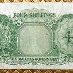 Bahamas 4 shillings 1953 reverso