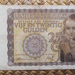 Holanda 25 gulden 1940 (156x88mm) pk.57 anverso