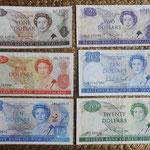 Nueva Zelanda dolares Isabel II años '80 s.XX anversos