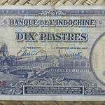 Indochina 10 piastras 1947 (140x59mm) pk.80 anverso