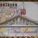 Irlanda del Norte 10 libras 1997 Northern Bank pk.198a reverso