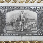 Canada 10 dollars 1937 pk.61c reverso