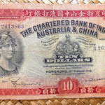 Hongkong 10 dolar 1948 Chartered Bank of India, Australia and China anverso