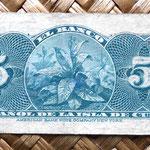 Cuba colonial 5 centavos de peso 1896 (76x35mm) reverso