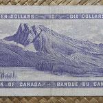 Canada 10 dollars 1954 pk.79b reverso