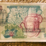 Indonesia 1000 rupias 1952 resello PRRI (Pemerintah Revolusioner Republik Indonesia) anverso