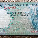 Katanga 100 francs katangais 1962 anverso