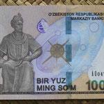 Uzbekistan 100.000 sum 2019 (144x78mm) pk.86 anverso