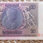 Alemania 20 reichsmark 1929 reverso