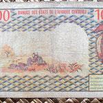 Camerun 10000 francos 1978 reverso